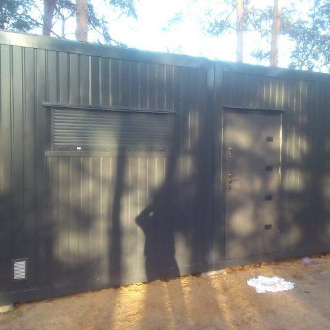 kontener mieszkalny czarny