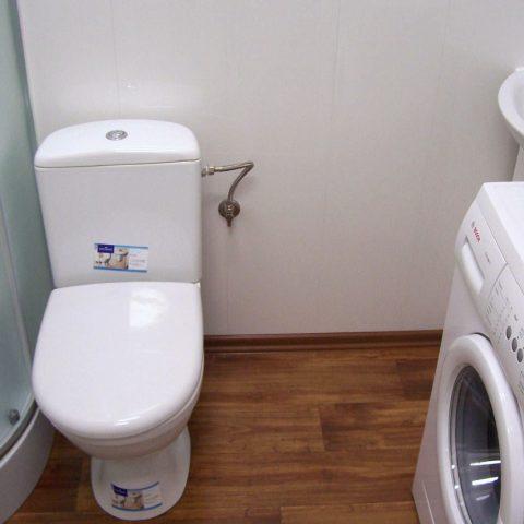 kontener mieszkalny z pralką