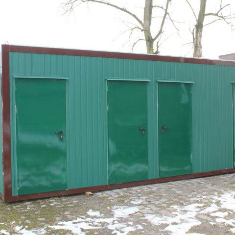 kontener sanitarne zielony
