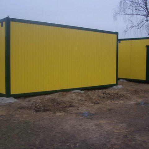dwa żółtych kontenera